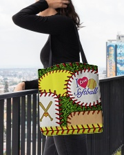 I Love Softball  All-over Tote aos-all-over-tote-lifestyle-front-05