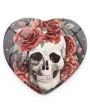 Skull Rose Ornament Heart ornament - single (porcelain) thumbnail