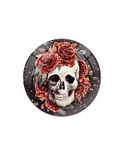 Skull Rose Ornament Circle Magnet thumbnail