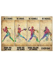 Softball - Be Strong 17x11 Poster front