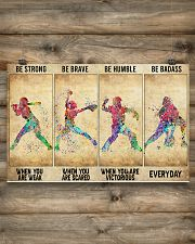 Softball - Be Strong 17x11 Poster poster-landscape-17x11-lifestyle-14