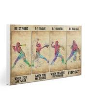 Softball - Be Strong Gallery Wrapped Canvas Prints tile