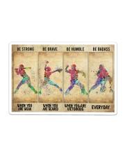 Softball - Be Strong Sticker tile