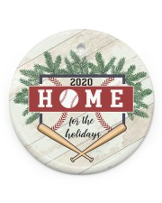 Baseball Circle Ornament 2020 Circle ornament - single (porcelain) front