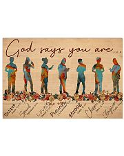Nurse God Says You Are 17x11 Poster front