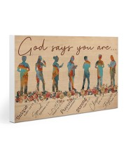 Nurse God Says You Are 30x20 Gallery Wrapped Canvas Prints thumbnail