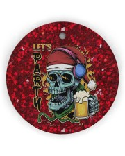 Skull - Let's Party Circle Ornament (Wood tile
