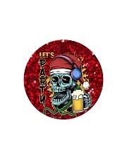 Skull - Let's Party Circle Magnet tile