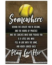 Softball - Play For Her 11x17 Poster front