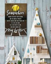 Softball - Play For Her 11x17 Poster lifestyle-holiday-poster-2