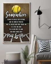 Softball - Play For Her 11x17 Poster lifestyle-poster-1