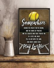 Softball - Play For Her 11x17 Poster lifestyle-poster-3