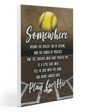 Softball - Play For Her 20x30 Gallery Wrapped Canvas Prints thumbnail