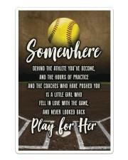 Softball - Play For Her Sticker - Single (Vertical) thumbnail