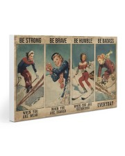 Skiing - Be Strong Poster 19 Gallery Wrapped Canvas Prints tile