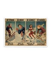 Skiing - Be Strong Poster 19 Sticker tile