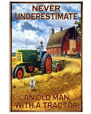 Tractor Farmer Never Underestimate 11x17 Poster front