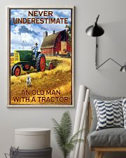 Tractor Farmer Never Underestimate 11x17 Poster lifestyle-poster-1