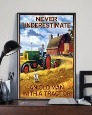 Tractor Farmer Never Underestimate 11x17 Poster lifestyle-poster-2