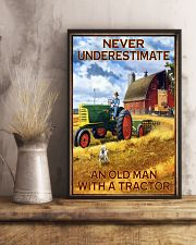 Tractor Farmer Never Underestimate 11x17 Poster lifestyle-poster-3