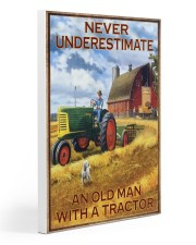 Tractor Farmer Never Underestimate Gallery Wrapped Canvas Prints tile