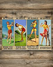 Golf - Be Strong 17x11 Poster poster-landscape-17x11-lifestyle-14