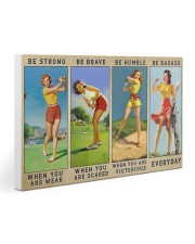 Golf - Be Strong 30x20 Gallery Wrapped Canvas Prints thumbnail