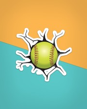 Softball Crack Sticker - Single (Horizontal) aos-sticker-single-horizontal-lifestyle-front-02