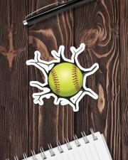 Softball Crack Sticker - Single (Horizontal) aos-sticker-single-horizontal-lifestyle-front-05