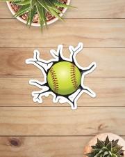 Softball Crack Sticker - Single (Horizontal) aos-sticker-single-horizontal-lifestyle-front-07