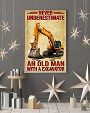 Never Underestimate An Old Man WIth A Excavator 11x17 Poster lifestyle-holiday-poster-1