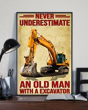 Never Underestimate An Old Man WIth A Excavator 11x17 Poster lifestyle-poster-2