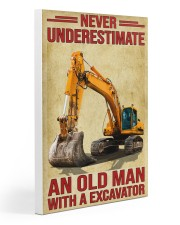 Never Underestimate An Old Man WIth A Excavator Gallery Wrapped Canvas Prints tile