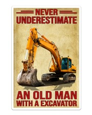Never Underestimate An Old Man WIth A Excavator Sticker tile