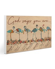 Flamingo God Says You Are Gallery Wrapped Canvas Prints tile