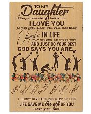 To My Daughter God Says You Are - Volleyball 11x17 Poster front
