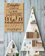 To My Daughter God Says You Are - Volleyball 11x17 Poster lifestyle-holiday-poster-2