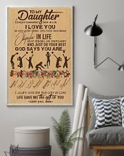 To My Daughter God Says You Are - Volleyball 11x17 Poster lifestyle-poster-1