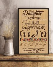 To My Daughter God Says You Are - Volleyball 11x17 Poster lifestyle-poster-3