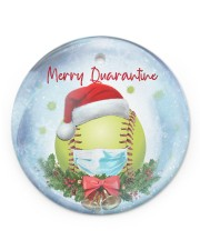 Softball - Merry Quarantine 2020 Ornament Circle ornament - single (porcelain) front