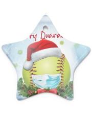 Softball - Merry Quarantine 2020 Ornament Star Ornament (Porcelain) tile