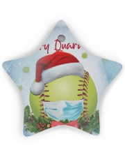 Softball - Merry Quarantine 2020 Ornament Star Ornament (Wood) tile