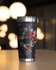 Skull Roses Tumbler 20oz Tumbler aos-20oz-tumbler-lifestyle-front-04