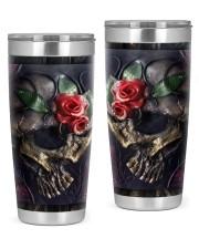 Skull Roses Tumbler 20oz Tumbler front
