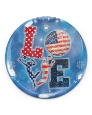 Volleyball - Love Round Ornament Circle ornament - single (porcelain) front