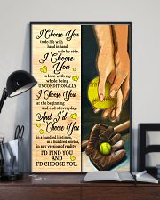 Softball - I Choose You Poster 11x17 Poster lifestyle-poster-2