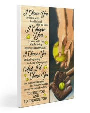 Softball - I Choose You Poster 20x30 Gallery Wrapped Canvas Prints thumbnail