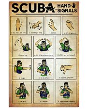 Scuba Hand Signals Poster  11x17 Poster front