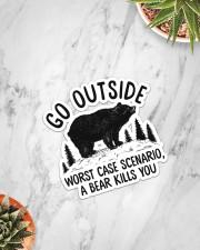 Camping - Go Outside Sticker Sticker - Single (Vertical) aos-sticker-single-vertical-lifestyle-front-06