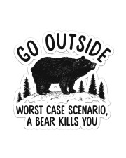 Camping - Go Outside Sticker Sticker - Single (Vertical) front